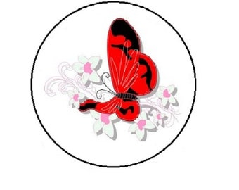 20mm, red Butterfly