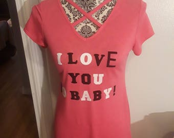 Pink I love you so baby dress!