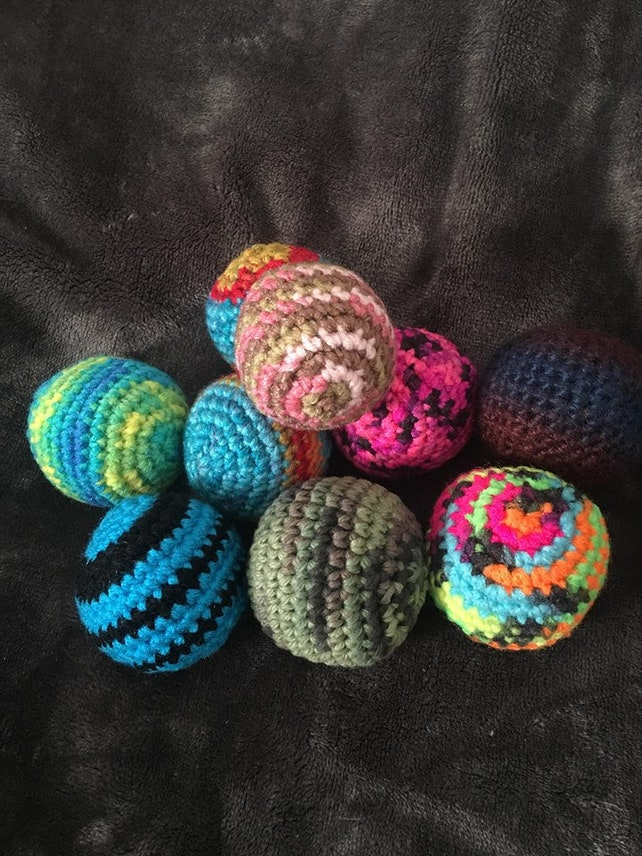 Hacky Sack Footbag Stress Ball Footbag Game Gifts Ready Etsy