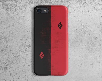 Suicide Squad Harley Quinn Black And Red Suit Logo Durable Hard Plastic  Protective Case For iPhone 7 ad7c50b0567