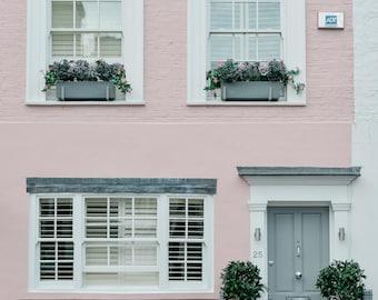 Pink House Notting Hill print Digital Download