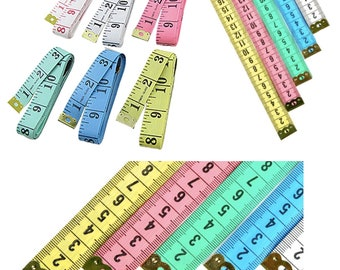 2-Pack Body Measuring Tape Ruler Sewing Cloth Tailor Measure 60 inch 150 cm Random Color