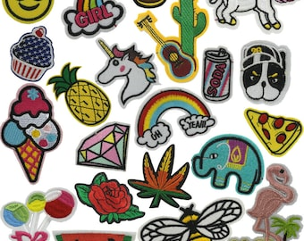 Jeans Funky Iron-on or Sew-on Patches Applique Accessories Hand Embroidered Patches for DIY Clothes Shoes by Accessories Attic 3 Lollipops Bag
