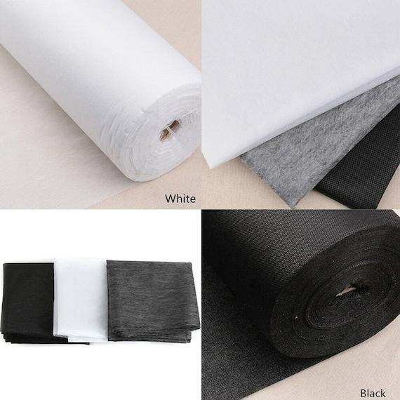 BULK DISCOUNTS PREMIUM Iron on Fusible Black Interfacing Light//Medium//Heavy