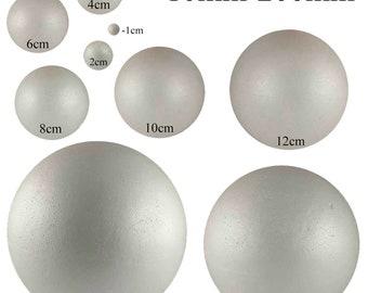 100mm 10cm White Polystyrene Foam Balls 3D Styrofoam Balls Spheres Science Project,Christmas Ornaments,Snowman Crafts, Accessory,Huge Stock