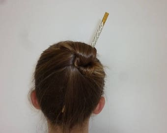 Hair Accessory. Hair Stick. Wooden Hair Stick and Chinese Writing. Upcycling. Women Gift. Girl Gift