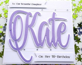 Large Personalised Birthday Card Daughter 16th 18th 30th 40th 50th 60 Sister Granddaughter Niece Wife Girlfriend Fiancee Girl Friend In Law