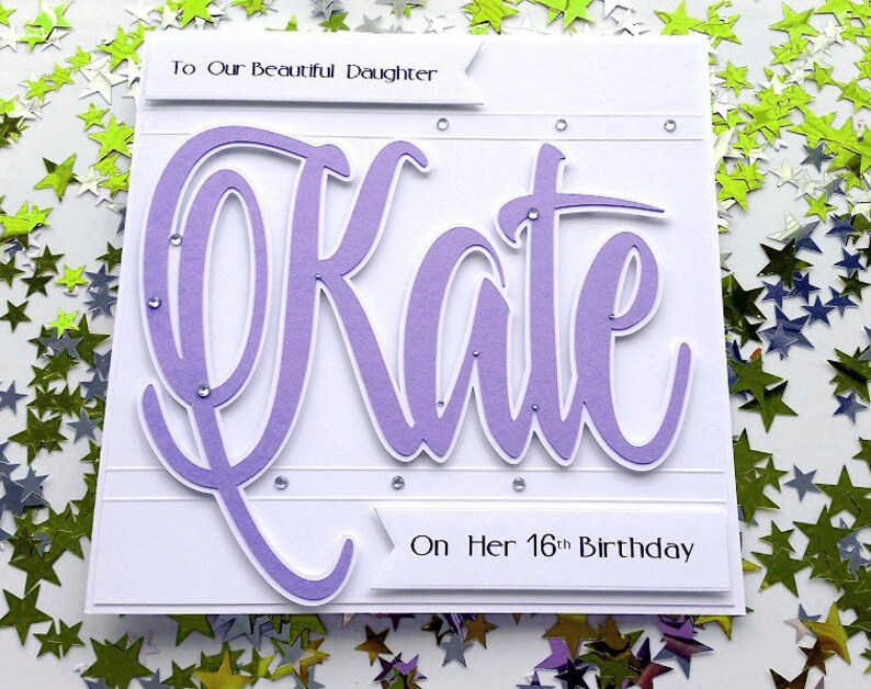 Large Personalised Birthday Card