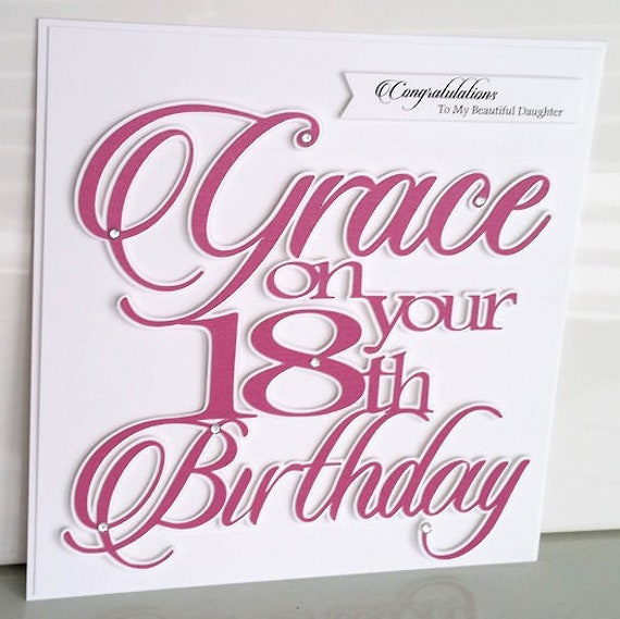 Large Personalised 18th Birthday