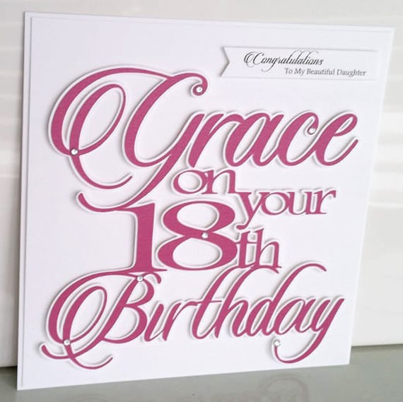 Large Personalised 18th Birthday Card Daughter Granddaughter Niece Sister Girlfriend Fiancee Wife For Her 16th 21st 30th 40th 50th 60th