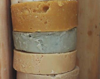 Soap in Bullant, Lot of 3 soaps, no essential oil, honey soap, shea soap, shea soap two clays, 100g supergra soaps