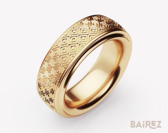 Simple Band Diamond Modernist Modernist Jewelry Modern Etsy