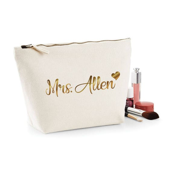 7184dfa279da7 Bride gift bridal organic accessory bag trendy purse make up funny girl  power cosmetic wedding gift fashion blogger style high quality