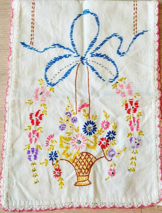 Large vintage embroidered piece