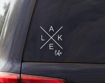 Lake Life Boating Decor Car Truck Window Decal Sticker