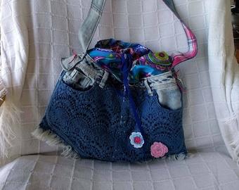 Shoulderbag Lacy Blue