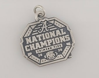 Alabama CFP 2020 National Champions silver traditional charm