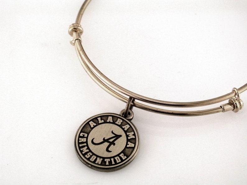Gift Accessories Mom Jewelry Rolltide Graduate Basketball University of Alabama Bama Charm Football Crimson Tide Bracelet