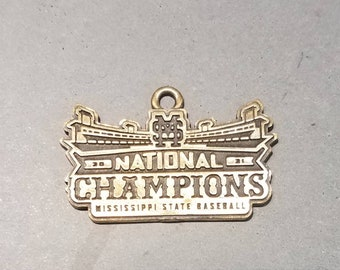 Mississippi State 2021 Men's Baseball National Championship Charm