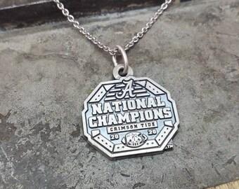 Alabama 2020 National Championship Necklace and Pendant