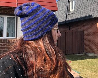 The Blue Purl Slouch