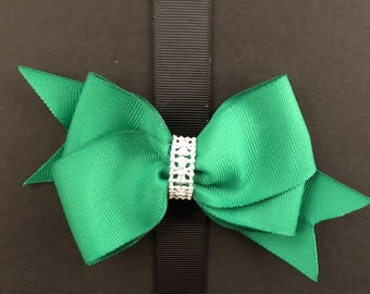 Classic Holiday Green Bow
