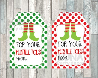 photograph relating to For Your Mistletoes Printable Tags named Etiqueta de pedicura Etsy