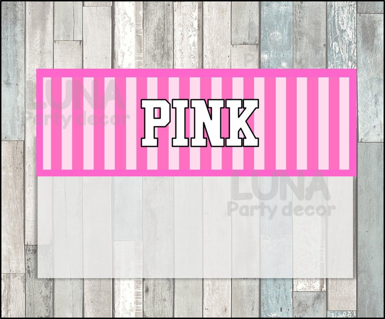 Printable Victoria Secret Bags toppers Victorias Secret Pink Toppers instant download Victoria Secret Treat bags toppers