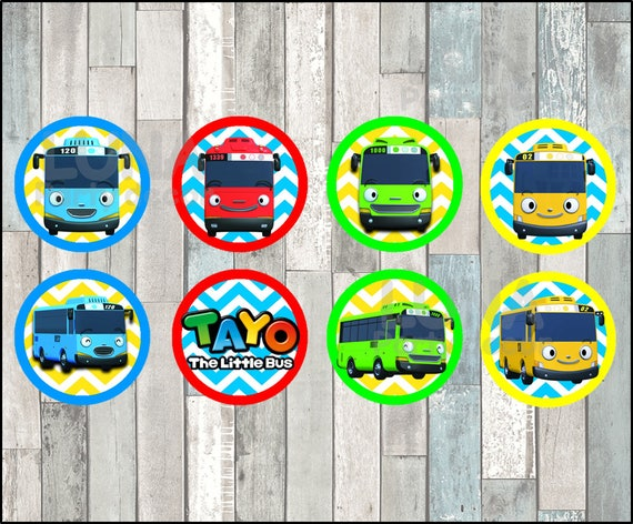 Tayo The Little Bus Toppers Instant Download Printable Tayo Etsy