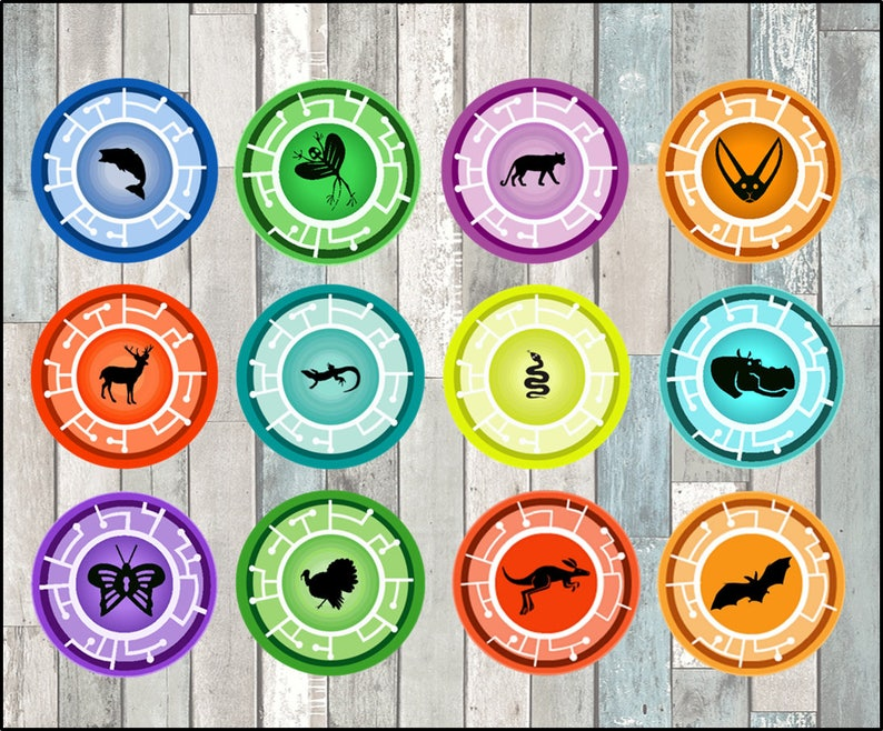 graphic regarding Wild Kratts Creature Power Discs Printable named Wild Kratts Toppers quick obtain, Printable Wild Kratts bash cupcakes Topper, Creature Electric power Disks toppers