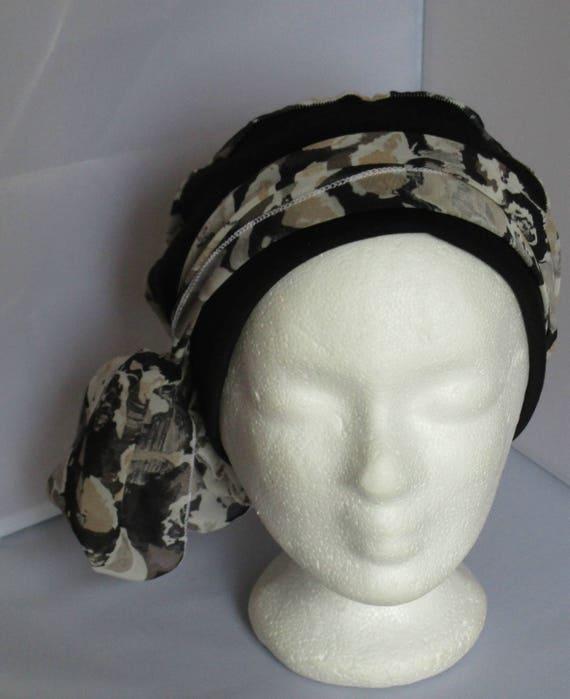 Turban préformé Foulard cheveux chapeau bandeau chimio   Etsy b4b59ecae74