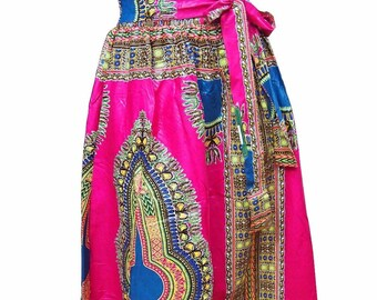 f77b0e1416 DASHIKI AFRICAN MAXI Skirt , Ethnic Print Maxi Ankara Skirt