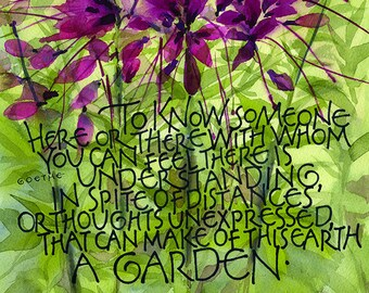 Cleome with Goethe text