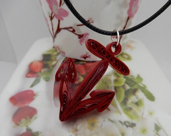Quilling Anchor Necklace, Anchor necklace