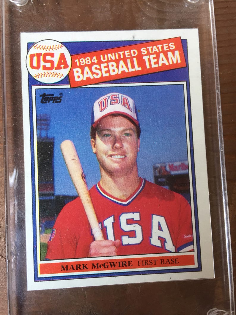 Mark Mcgwire Big Mac Rookie Card 1985 Topps