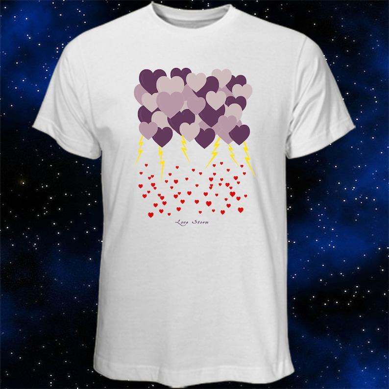ea30981b Heart T-Shirt Love Storm Heart Gift Artistic T-Shirt | Etsy