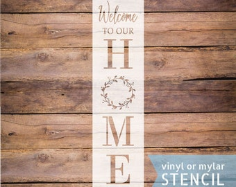 diy sign stencil craft ste Welcome to our porch stencil reusable sign stencil