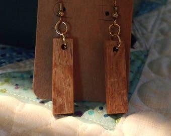 Short rectangle dangle earrings