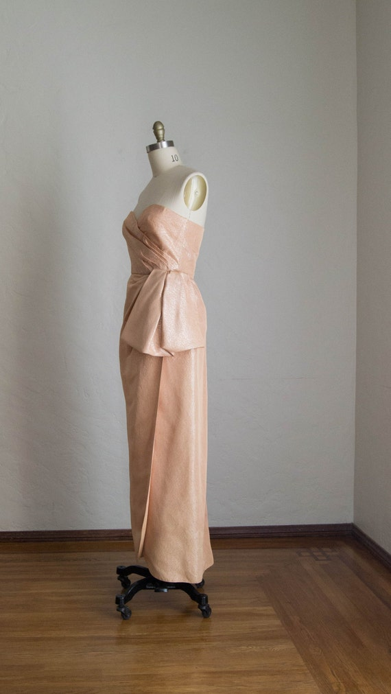 Vintage Strapless Evening Dress/ Marilyn Monroe St