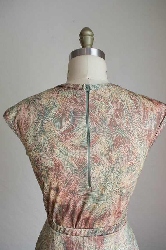 1970's 3 Piece Skirt Set/ Abstract Floral Print S… - image 6