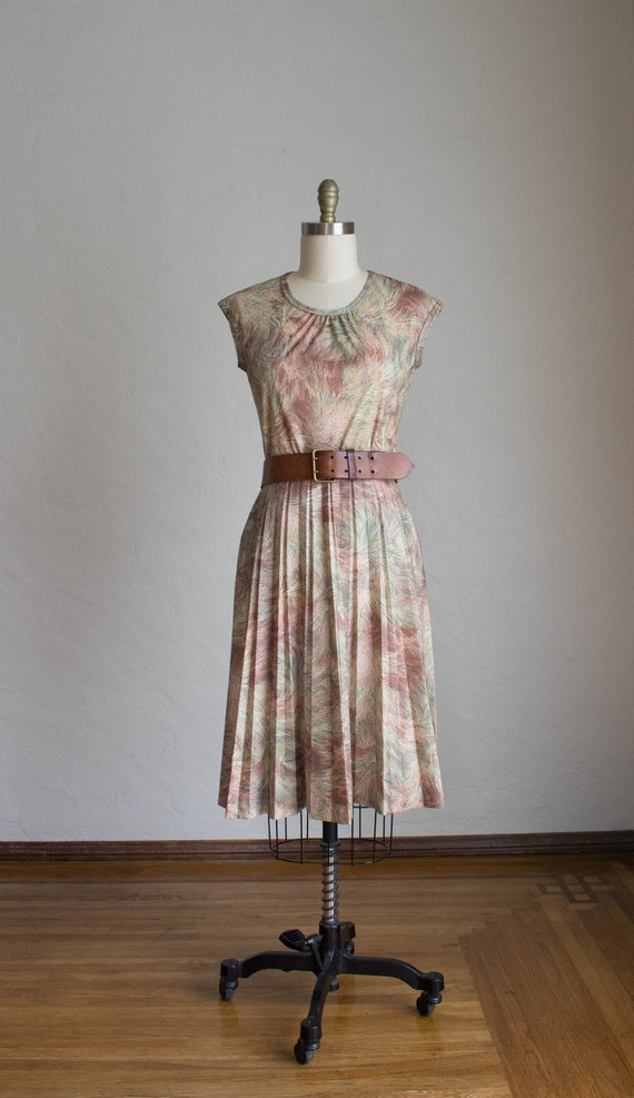 1970's 3 Piece Skirt Set/ Abstract Floral Print S… - image 3