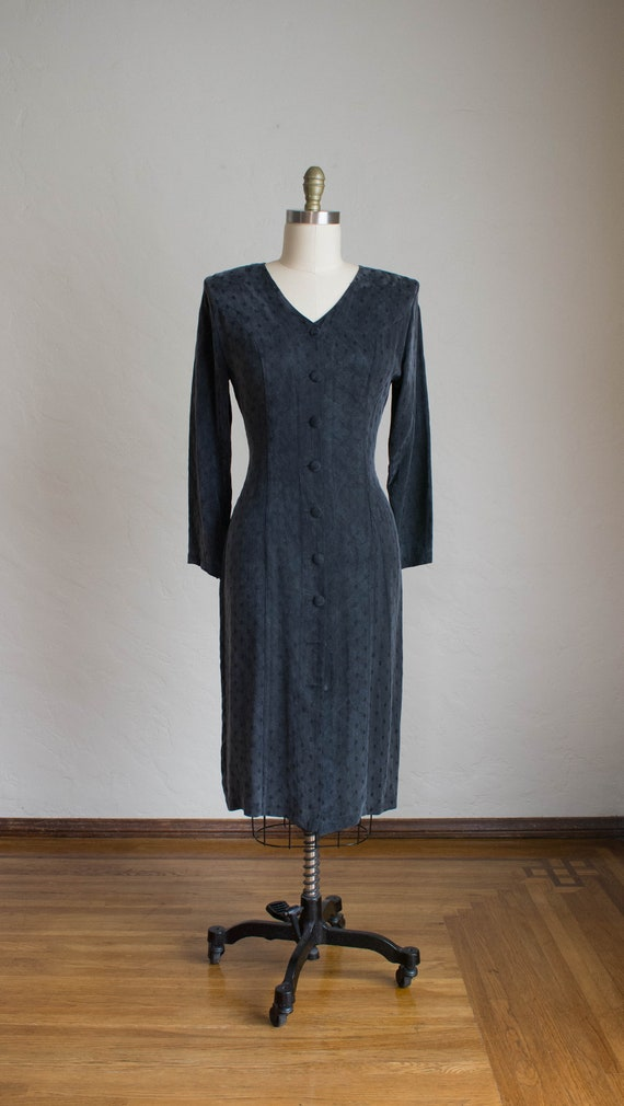Vintage 80's Silk Dress/ Professional Work Dress/