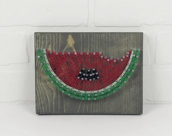 READY TO SHIP!! Watermelon String Art - Summer Sign - Holiday Decoration - Spring Decor - Wood - Nails - String - Gift