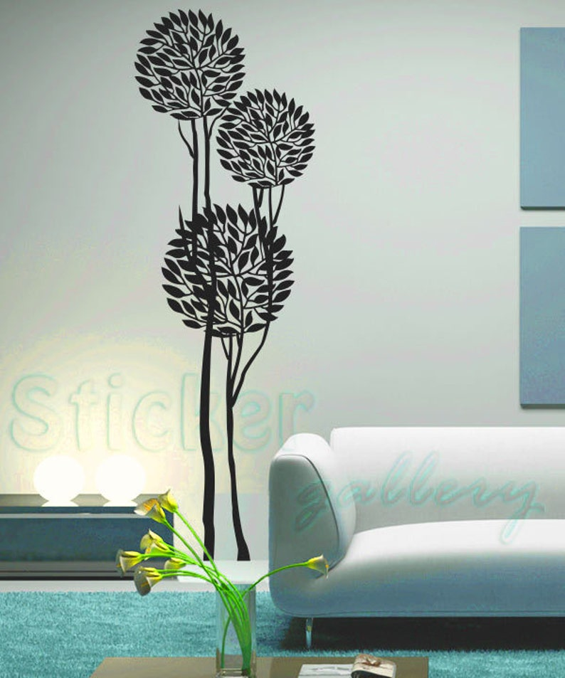 Floral wall decals flower wall decal. tree wall decal ART TREES stickers floral tree wall decal self adhesive vinyl wall decal sticker