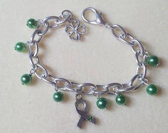 Green awareness link bracelet
