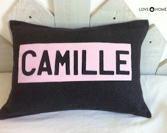 Pillow with customizable name