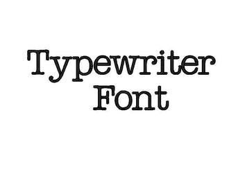 Typewriter Embroidery Font comes in 3 sizes in 10 formats