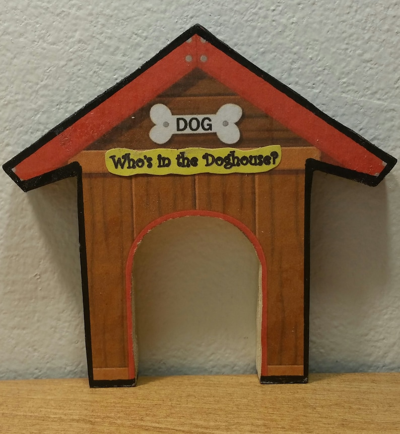 Who/'s in the Doghouse Family of 3 Unique Miniature Refrigerator Magnet Set  You choose the dogs