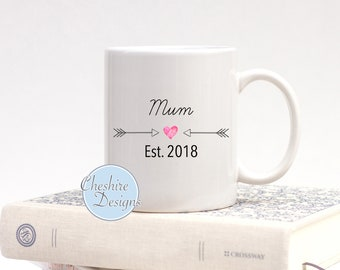 Mum Mug, Established Year, New Mum, Mums First Present, Motherly Love, Mothers Day Mug, Gifts For Mum, Gifts for Her, Mothers day Gifts