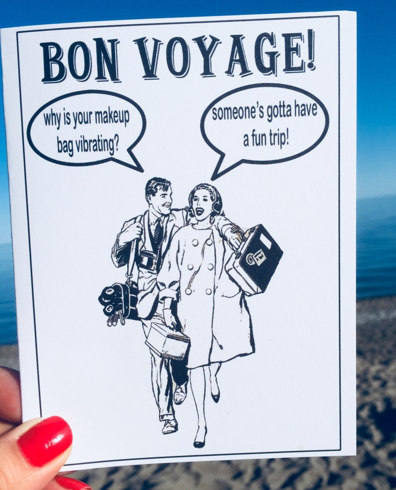 cab00b8a6 Funny bon voyage card funny greeting card funny good luck
